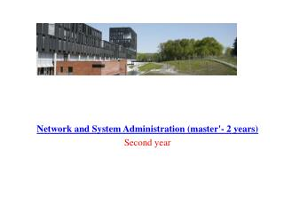 Network and System Administration (master'- 2 years) Second year