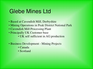 Glebe Mines Ltd