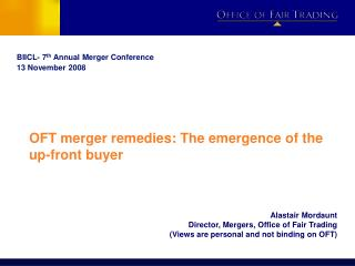 OFT merger remedies: The emergence of the up-front buyer