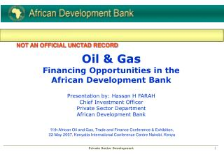 11th African Oil and Gas, Trade and Finance Conference & Exhibition,