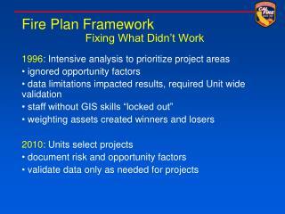 Fire Plan Framework