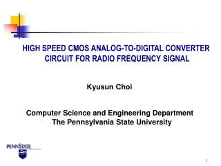 HIGH SPEED CMOS ANALOG-TO-DIGITAL CONVERTER  CIRCUIT FOR RADIO FREQUENCY SIGNAL