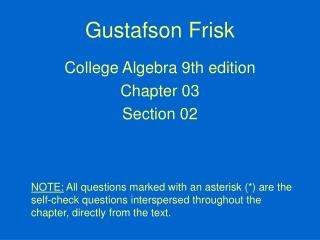 Gustafson Frisk
