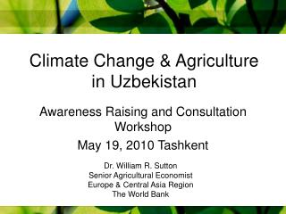 Climate Change & Agriculture in Uzbekistan