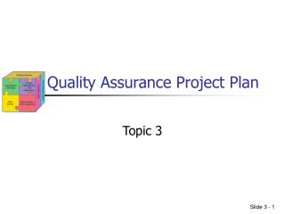 Quality Assurance Project Plan