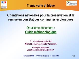 Coordination de rédaction Michel Deshayes, Jennifer Amsallem