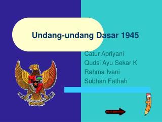 Undang-undang Dasar 1945