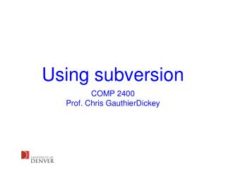 Using subversion