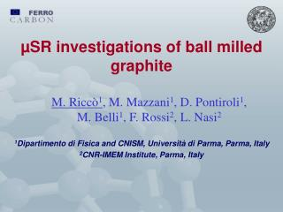 µSR investigations of ball milled graphite