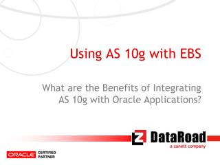 Using AS 10g with EBS