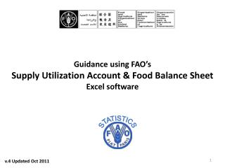 Guidance using FAO's Supply Utilization Account & Food Balance Sheet Excel software