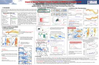 Impact of Strong Tropical Volcanic Eruption on ENSO in a Coupled GCM