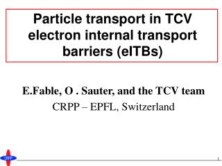 Particle transport in TCV electron internal transport barriers (eITBs)