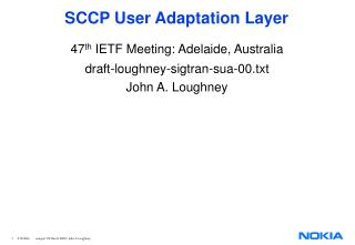 SCCP User Adaptation Layer