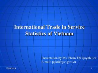 International Trade in Service Statistics of Vietnam