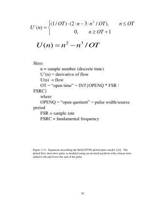 Here:       n = sample number (discrete time)       U'(n) = derivative of flow       U(n)  = flow