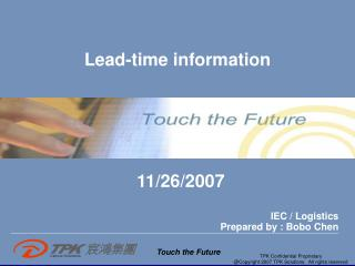 Lead-time information