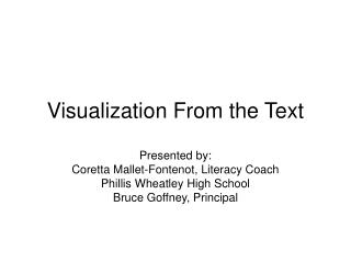 Visualization From the Text