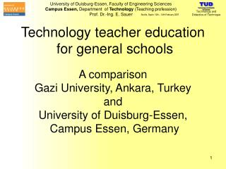Technology teacher education  for general schools