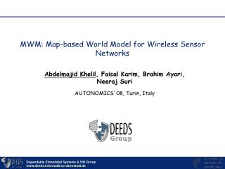MWM: Map-based World Model for Wireless Sensor Networks