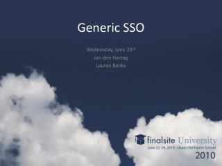Generic SSO