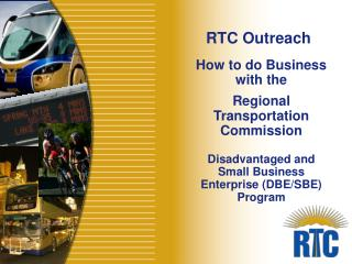 How to do Business  with the  Regional Transportation Commission