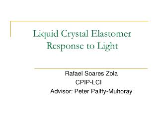 Liquid Crystal Elastomer Response to Light