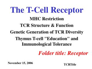 The T-Cell Receptor