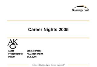 Career Nights 2005