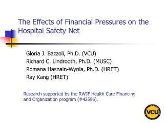 The Effects of Financial Pressures on the Hospital Safety Net