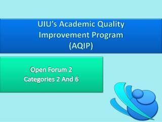 UIU's Academic Quality  Improvement Program  (AQIP)