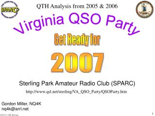 Sterling Park Amateur Radio Club (SPARC)