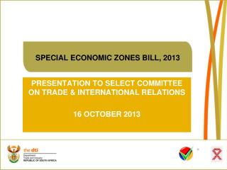 SPECIAL ECONOMIC ZONES BILL, 2013
