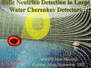 Relic Neutrino Detection in Large Water Cherenkov Detectors