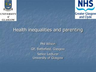 Health inequalities and parenting