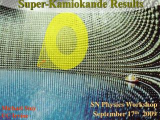 Super-Kamiokande Results