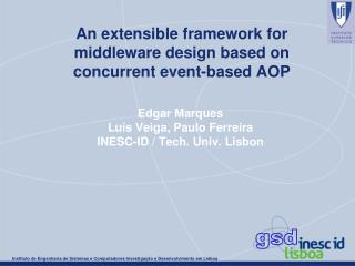 An extensible framework for  middleware design based on  concurrent event-based AOP
