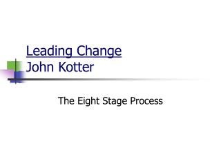 Leading Change John Kotter