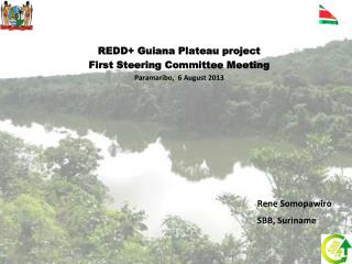 REDD+ Guiana Plateau project First Steering Committee Meeting Paramaribo,  6 August 2013