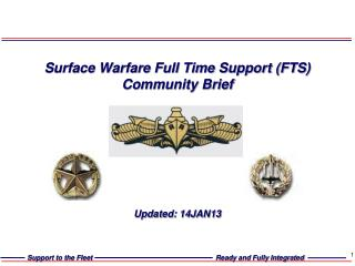 Surface Warfare Full Time Support (FTS) Community Brief