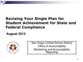 Revising Your Single Plan for Student Achievement for State and Federal Compliance