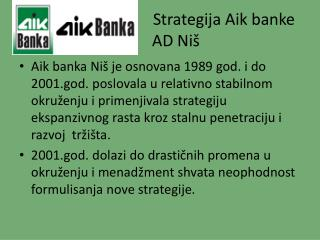 Strategija Aik banke AD Ni š