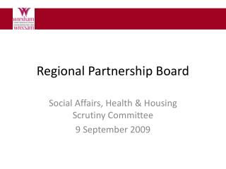 Regional Partnership Board