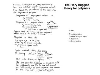 The Flory-Huggins theory for polymers