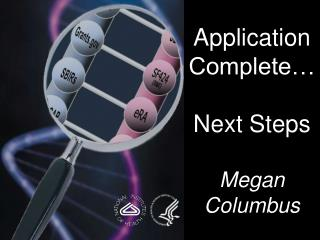 Application Complete… Next Steps Megan Columbus