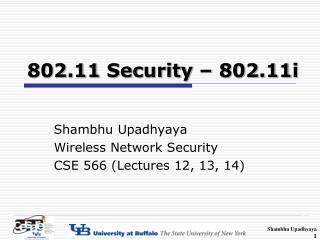 802.11 Security � 802.11i