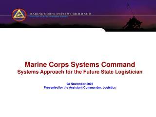 MCSC Life Cycle Logistics Strategy