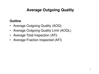 Average Outgoing Quality