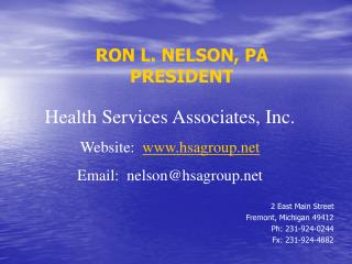 RON L. NELSON, PA PRESIDENT