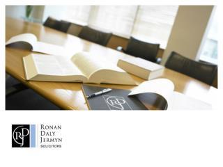 愛爾蘭法律 體制概述 Ronan Daly Jermyn 2013 年